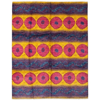 Contemporary Handmade Indian Rug - 8′10″ × 11′6″ For Sale