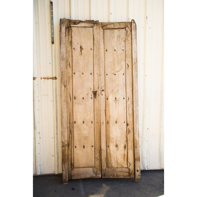 Two original sets of Mesquite Wood doors from Guadalajara, Mexico! Turn of the 19th Century. One set is larger than the...