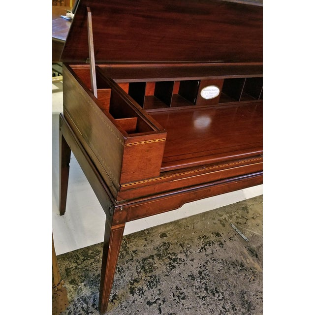 18c British Mahogany and Satinwood Bureau For Sale - Image 9 of 13