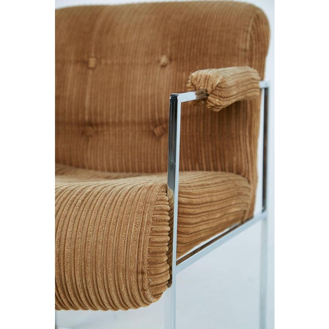 Chrome 1970s Milo Baughman for Thayer Coggin Dining Armchairs - a Pair For Sale - Image 7 of 9