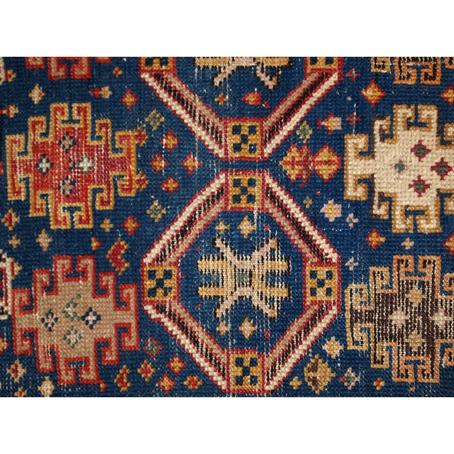 """Antique Caucasian Kuba Hand Made Runner- 3'6"""" x 8'1"""" - Image 3 of 10"""