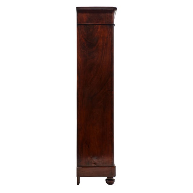 Brown French Restoration Antique Armoire For Sale - Image 8 of 10