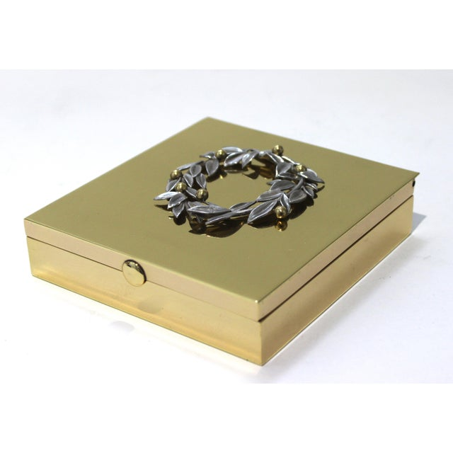 Vintage Vassilis Zoulias. Brass Box For Sale - Image 12 of 13