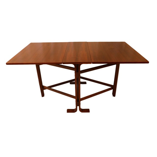 Danish Drop Leaf Teak Dining Table Bruno Mathsson Style For Sale - Image 4 of 10