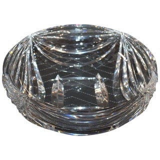 1950s Val Saint Lambert Clear Crystal Center Bowl For Sale