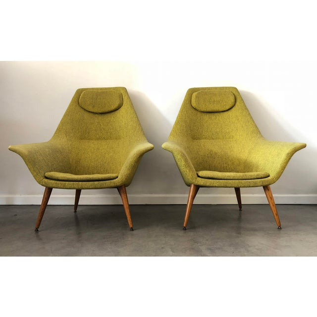 """Extremely rare """"Butterfly"""" easy chair designed by Torbjørn Afdal in 1957. Produced by Bjarne Hansen in Norway during the..."""