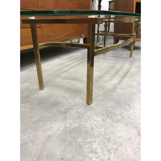 1970s 1970s Vintage Italian Brass Coffee Table For Sale - Image 5 of 9
