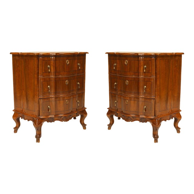 Pair of Italian Venetian Shaped Bedside Commodes For Sale