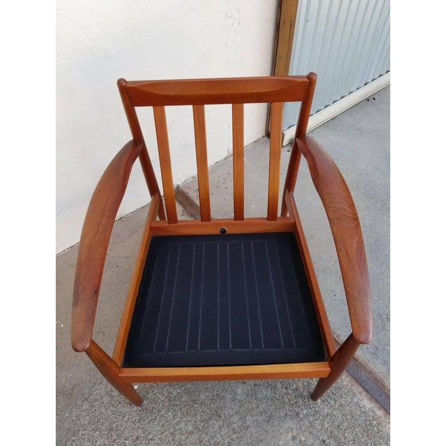 Grete Jalk for France & Daverkosen Teak Lounge Chairs - A Pair For Sale - Image 10 of 13