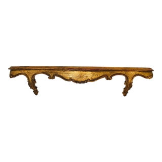 Vintage Florentine Gilt Wall Mount Shelf For Sale
