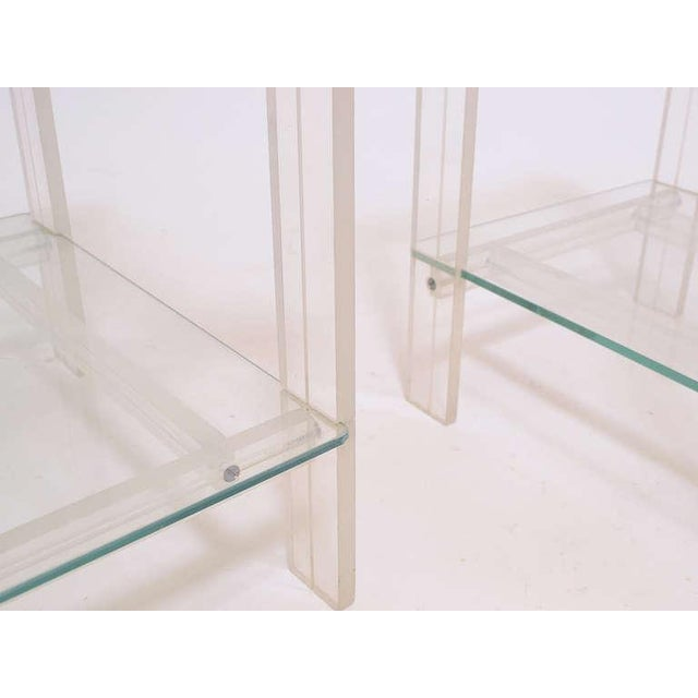 Pair Of Lucite And Glass End Tables/ Night Stands - Image 7 of 7