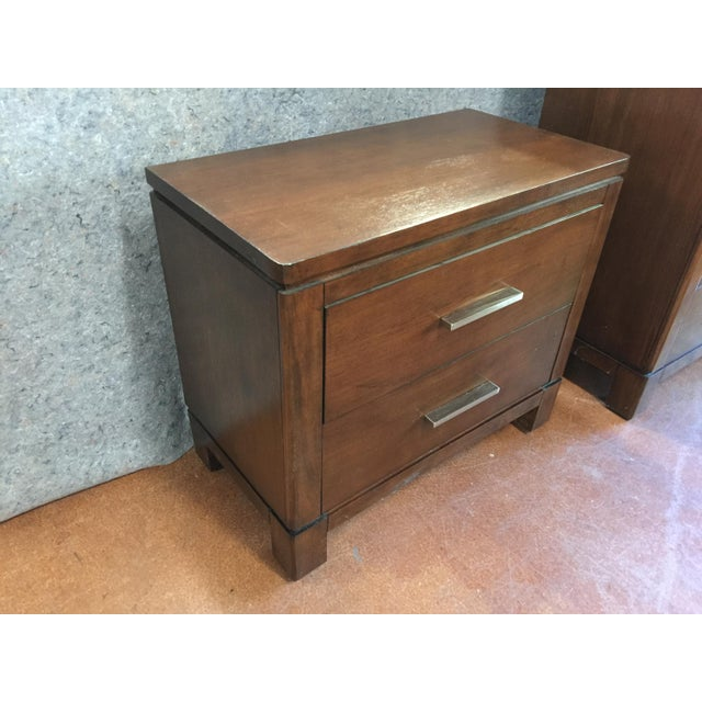 Modern Transitional Nightstand - Image 3 of 5