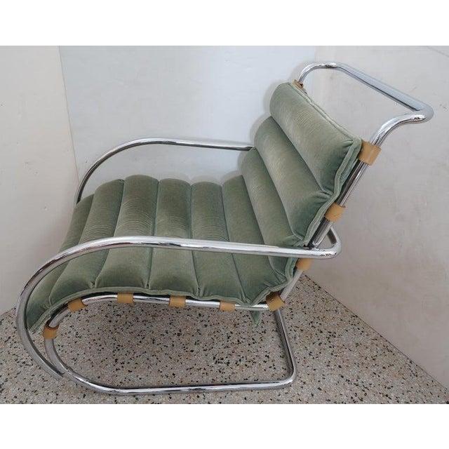 Gordon International Vintage Art Deco Mies Van Der Rohe Lounge Chair by Gordon International For Sale - Image 4 of 13