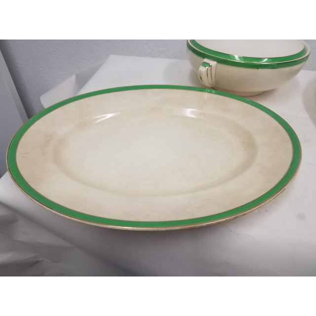 Antique Wedgwood Art Deco Serving Platters and Bowls - Found in Devon For Sale - Image 9 of 12