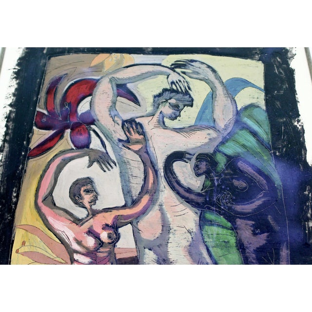 Original 1980s Peter Booth Contemporary Surrealist Mixed-Media Painting For Sale - Image 4 of 9