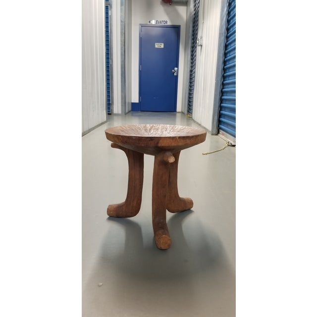 Antique African Brown Stool For Sale - Image 11 of 11