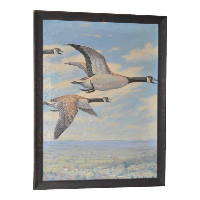 """""""Geese in Flight"""" Original Oil Painting For Sale"""