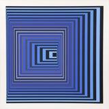 "Image of Victor Vasarely, ""Vonal Kzs"", Op Art Screenprint For Sale"