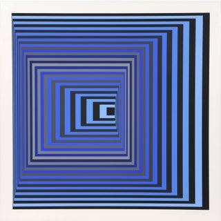"""Victor Vasarely, """"Vonal Kzs"""", Op Art Screenprint For Sale"""