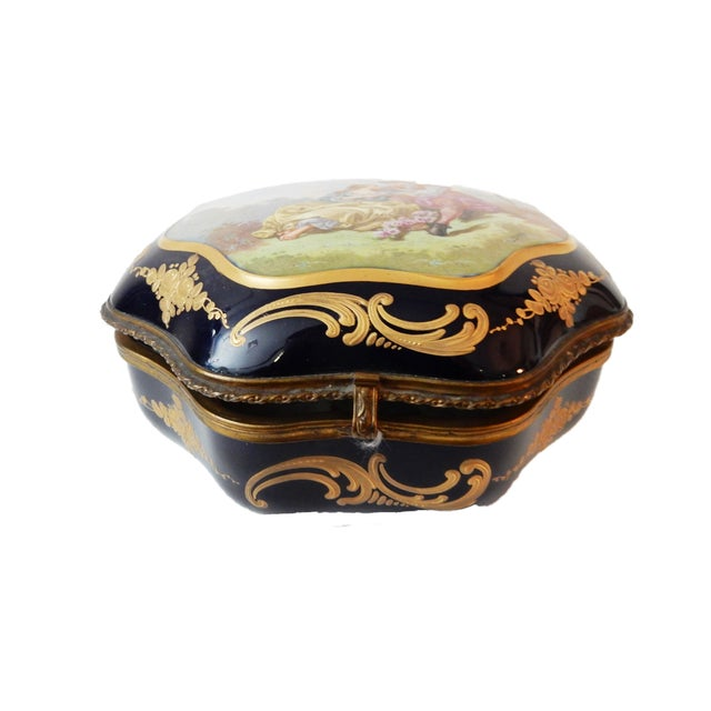 19th-C French Porcelain Dresser Box - Image 9 of 10
