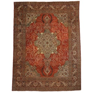 Haji Khalili Antique Persian Rug With Peacocks - 10′7″ × 14′ For Sale