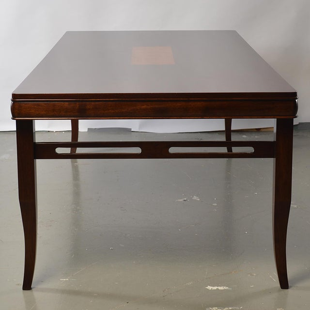 Bespoke Art Deco Style Walnut Extending Dining Table For Sale In Detroit - Image 6 of 12