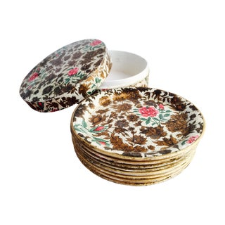 Round Colorful Plates - Set of 8