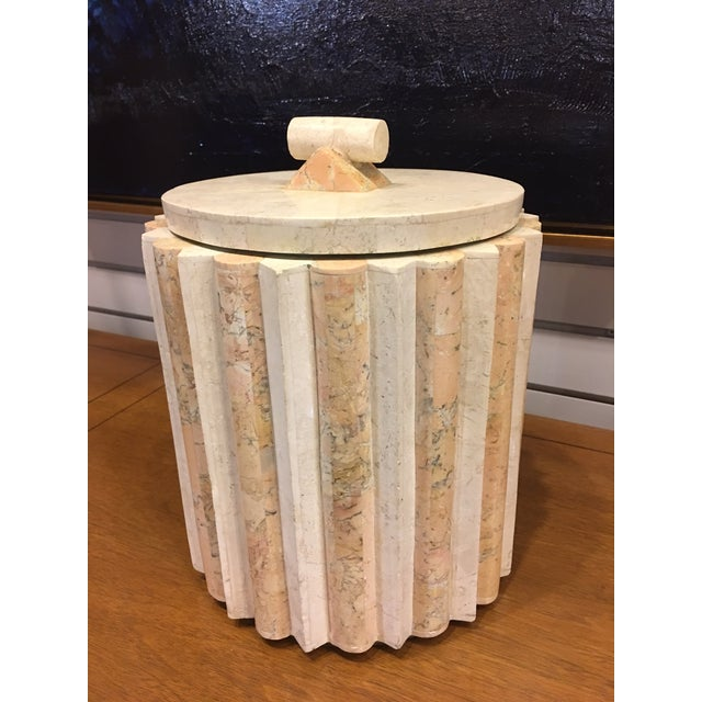 Marble Vintage Tessellated Marble Ice Bucket For Sale - Image 7 of 7
