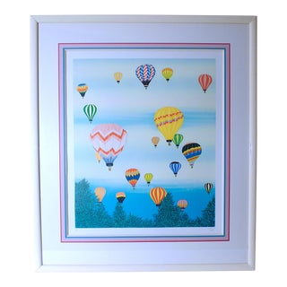 "1980s ""Ballooning at Dawn"" A/P Lithograph by Fanch Ledan, Framed For Sale"