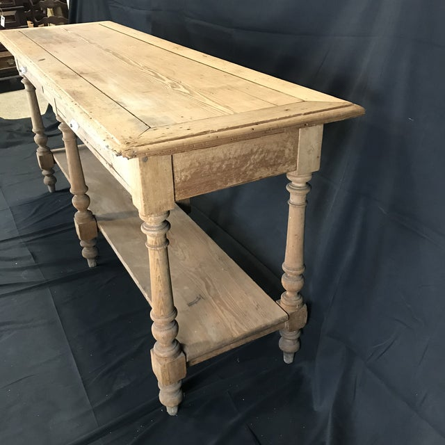 Mid 19th Century Antique French Pine Sideboard For Sale - Image 9 of 12
