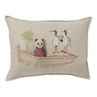 Panda Boat Pocket Pillow