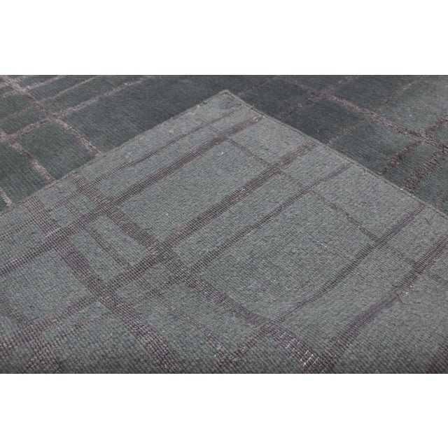 1980s Vintage Tibetan Abstract Expressionism Rug - 7'10 X 10'9 For Sale - Image 5 of 10