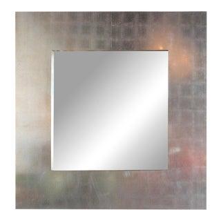 Italian Oversized Silver Leaf Mirror For Sale