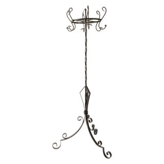 French Industrial Style Iron Hat and Coat Stand For Sale