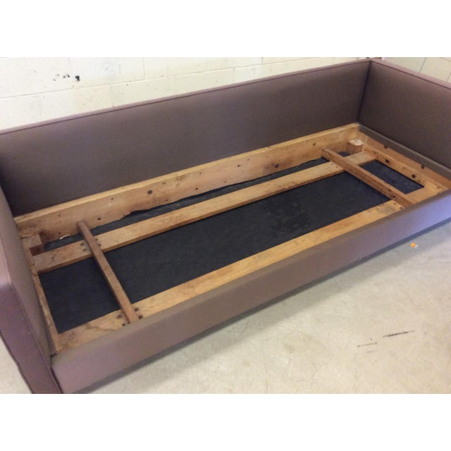 Purple Mid Century Modern Knoll-Style Floating Sofa For Sale - Image 8 of 10