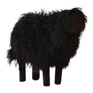 Large Lalanne Style Black Tibetan Lamb Sheep For Sale