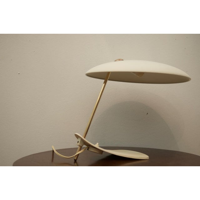Mid-Century Modern Mid-Century Brass & Steel Table Lamp For Sale - Image 3 of 8