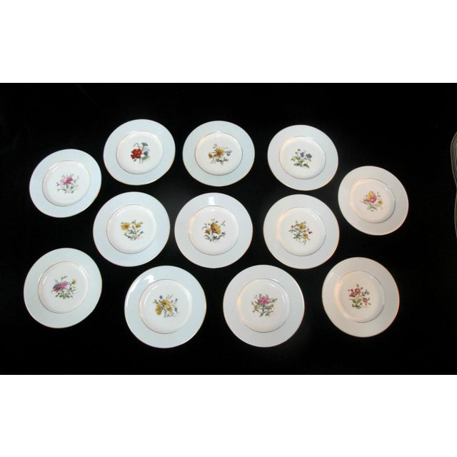 Early 20th Century Minton Blue Gilt Painted Plates Signed Colclough Fox - Set of 12 For Sale - Image 10 of 10