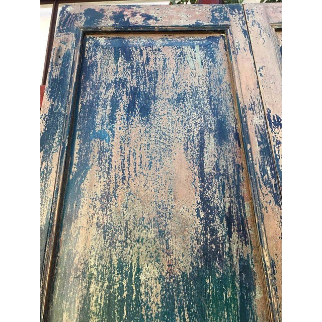 Pair of 19th Century Painted Doors For Sale - Image 4 of 9