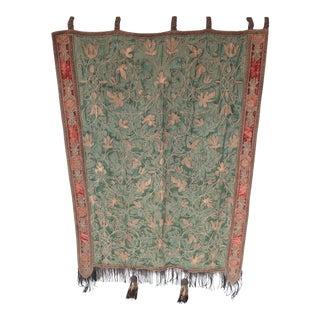 Antique Silk & Velvet Tapestry