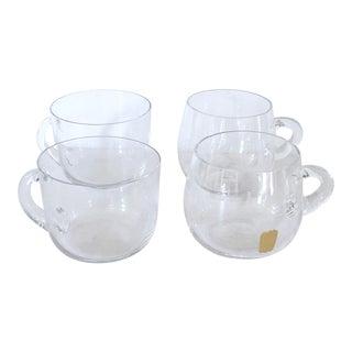 Set of 4 Swedish Glass Mugs For Sale