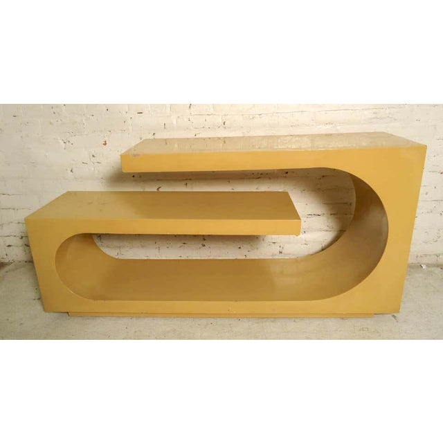 1960s Mod Style Lacquered Console For Sale - Image 9 of 9