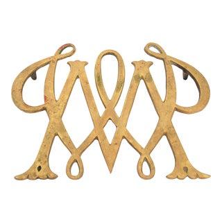 Vintage 1950s Virgina Metal Crafters Brass Trivet