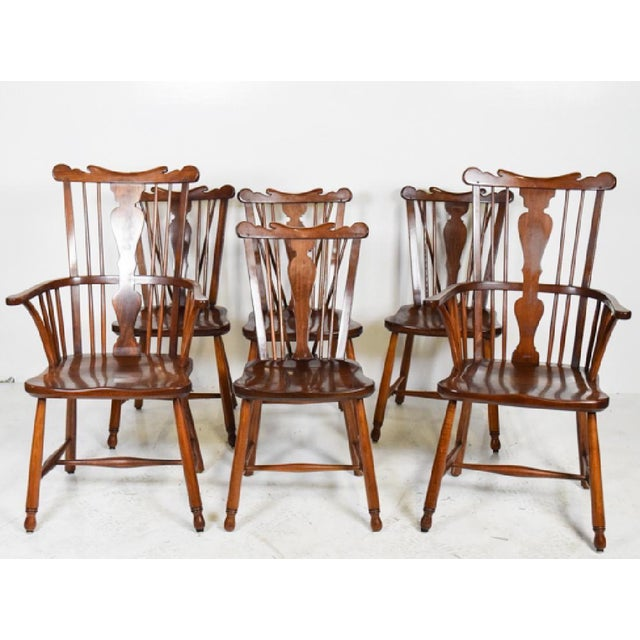 Wood 1950s Vintage L.& j.g. StickLey Dining Room Chairs - Set of 6 For Sale - Image 7 of 12