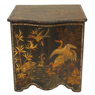 19th Century English Regency Chinoiserie Trunk For Sale