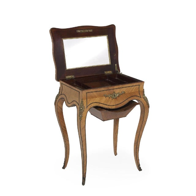 Late 19th Century 19th Century Louis XV Tahan Kingwood Work Table For Sale - Image 5 of 5