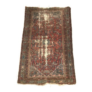 Antique 1930's Distressed Lilihan Sarouk Persian Rug 4 X6 For Sale