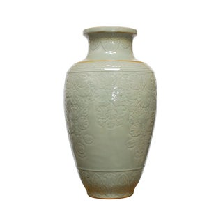 Chinese Longquan Style Celadon Vase For Sale