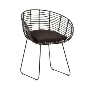 Rattan Dining Chair Black For Sale