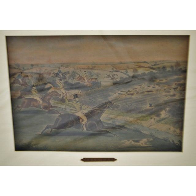 Vintage Framed Hunt Scene Lithographs Full Cry and The Death - A Pair Condition consistent with age and history. Some...